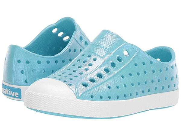 Jefferson Kids Shoe - Iridescent Hamachi Blue / Shell White C5