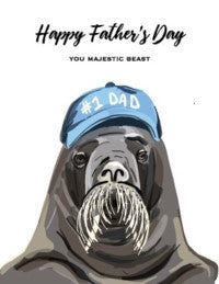 Happy Father's Day You Majestic Beast Father's Day Card