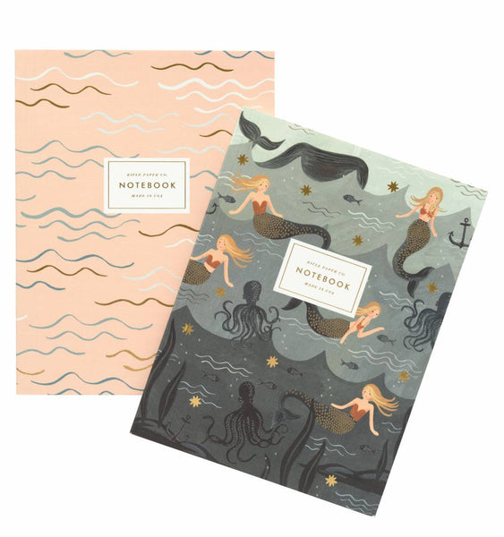 Mermaid Notebooks Set of 2