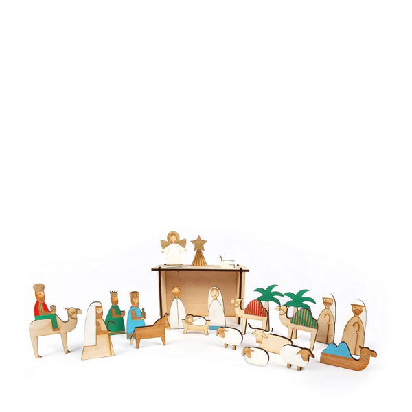 Wooden Nativity Advent Calender