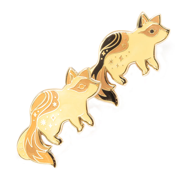 Ghost Raccoon Glow in the Dark Pin