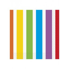 Rainbow Beverage Napkin 16 Pack