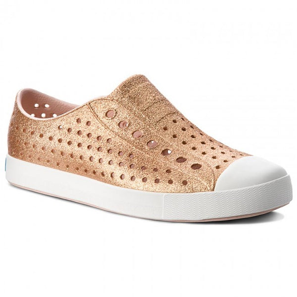 Jefferson Shoe - Rose Gold Bling/ Shell White M7 W9