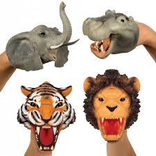 Safari Puppet (Elephant, Lion, Tiger & Hippo)