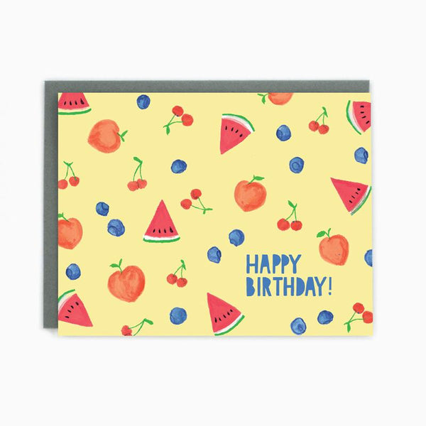Happy Birthday Summer Fruits Card