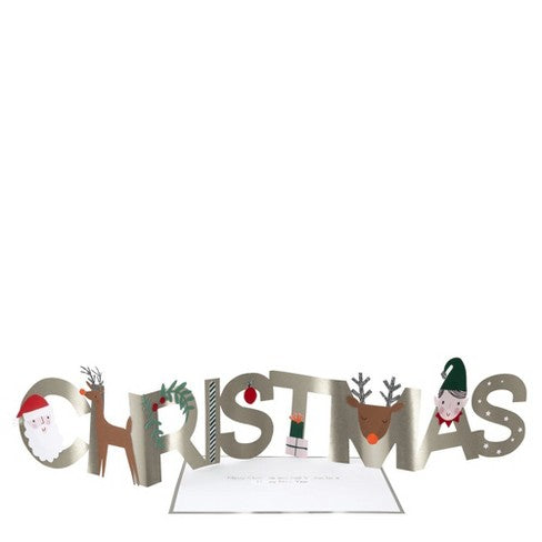 Christmas Letters Concertina Card