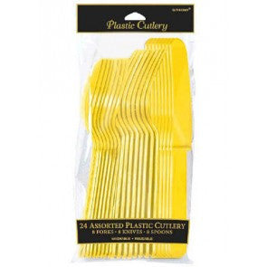 Assorted Plastic Cutlery - Yellow