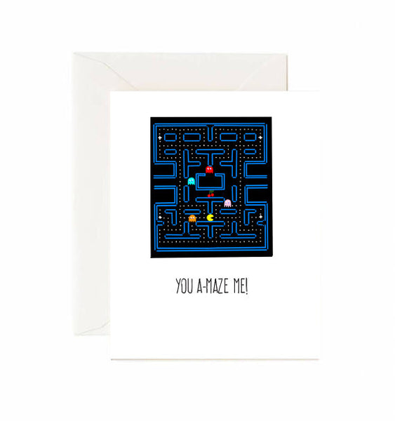 You A-Maze Me! Pac-man Card