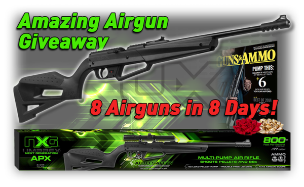 Win 1 of 8 NXG APX Air Rifles (over)