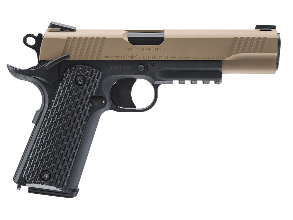 Colt M45 CQBP CO2 Pistole 4,5 mm BB, FDE, www.waffenfuzzi.de - YouTube