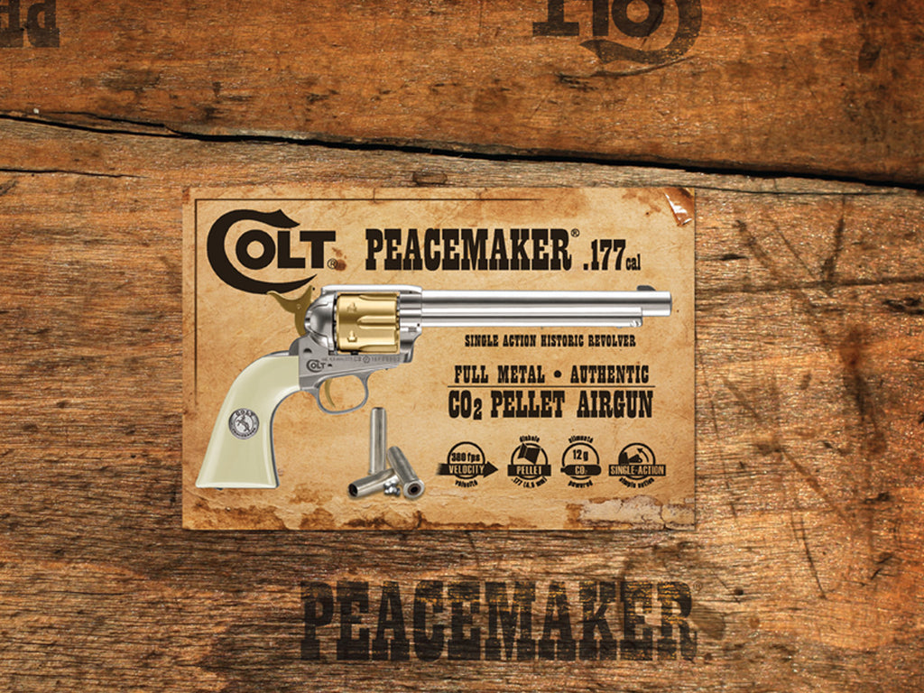Colt Peacemaker Nickel & Gold Pellet CO2 Pistol