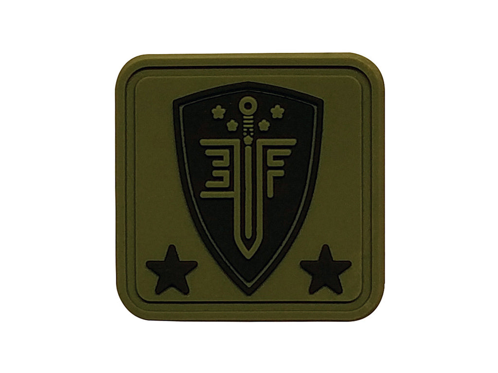 EF Helmet Patch Green - PVC