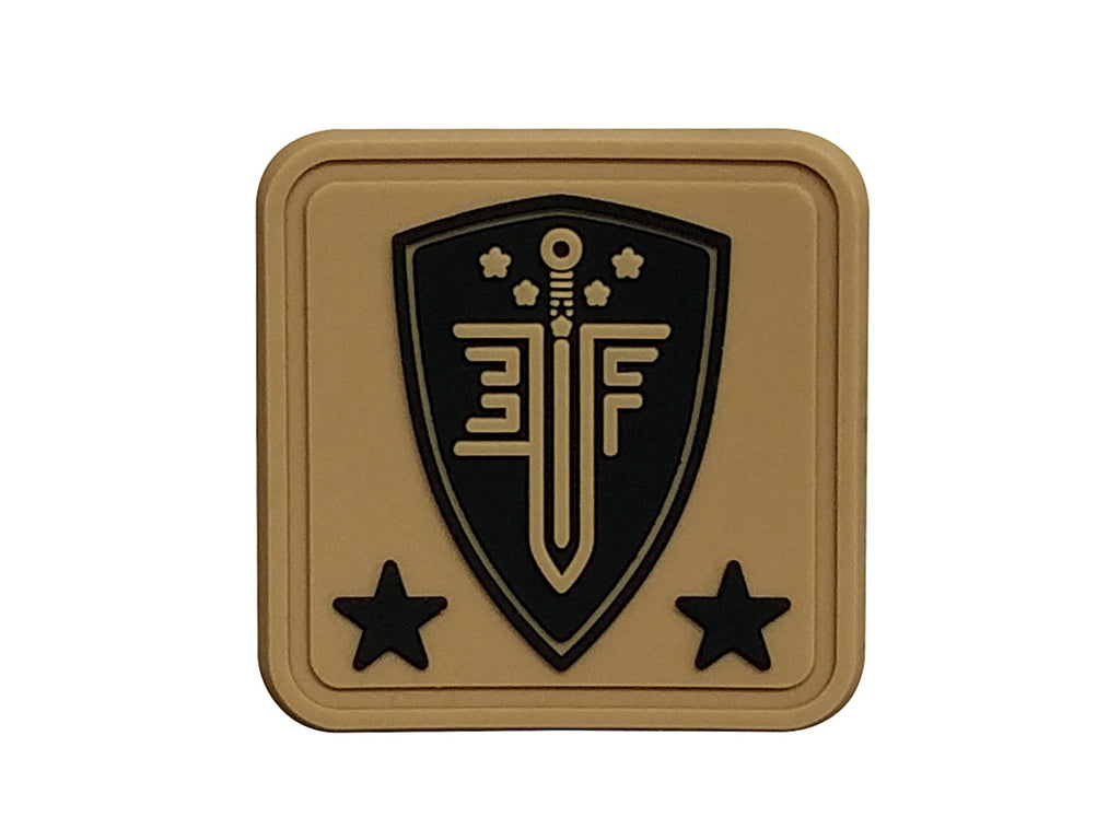 EF Helmet Patch Tan - PVC