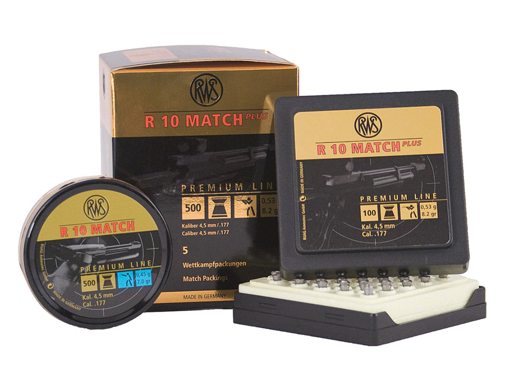 RWS R10 Match Plus Competition Pellets - 8.2 grains - .177