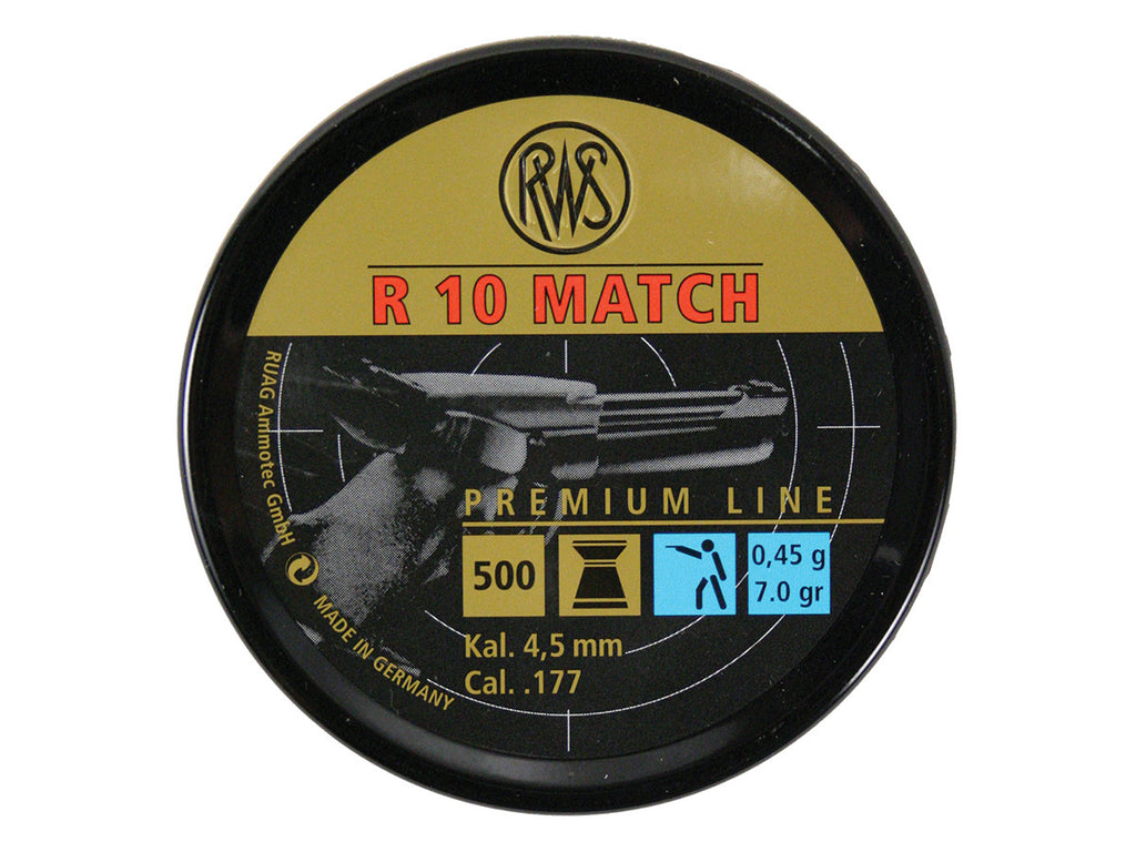 RWS R10 Match Competition Pellets - 7.0 grains - .177 - Umarex USA