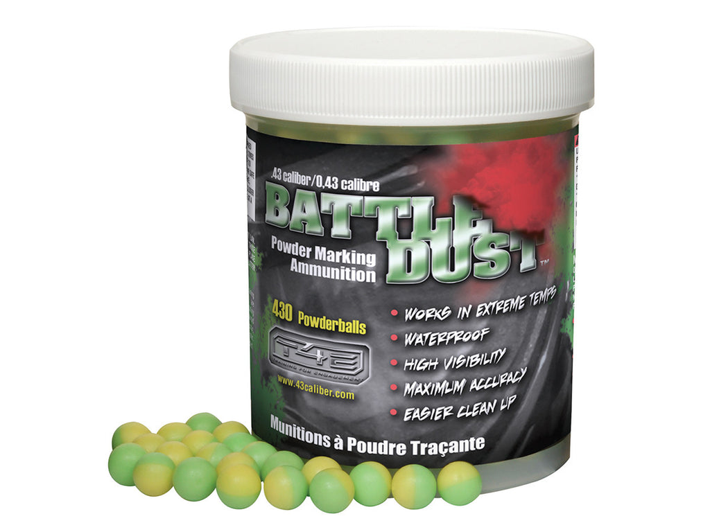 .43 cal dust green/yellow (430 count jar)