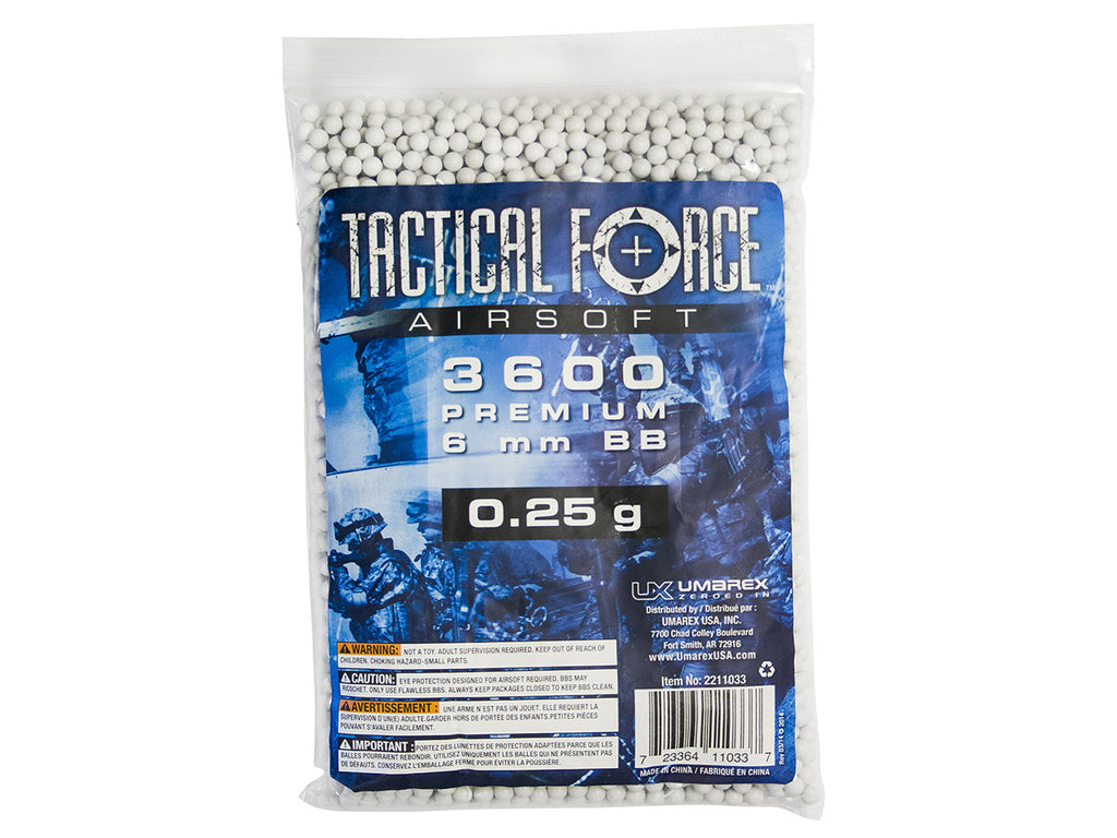 Tactical Force .25g 3600ct BAG WHITE