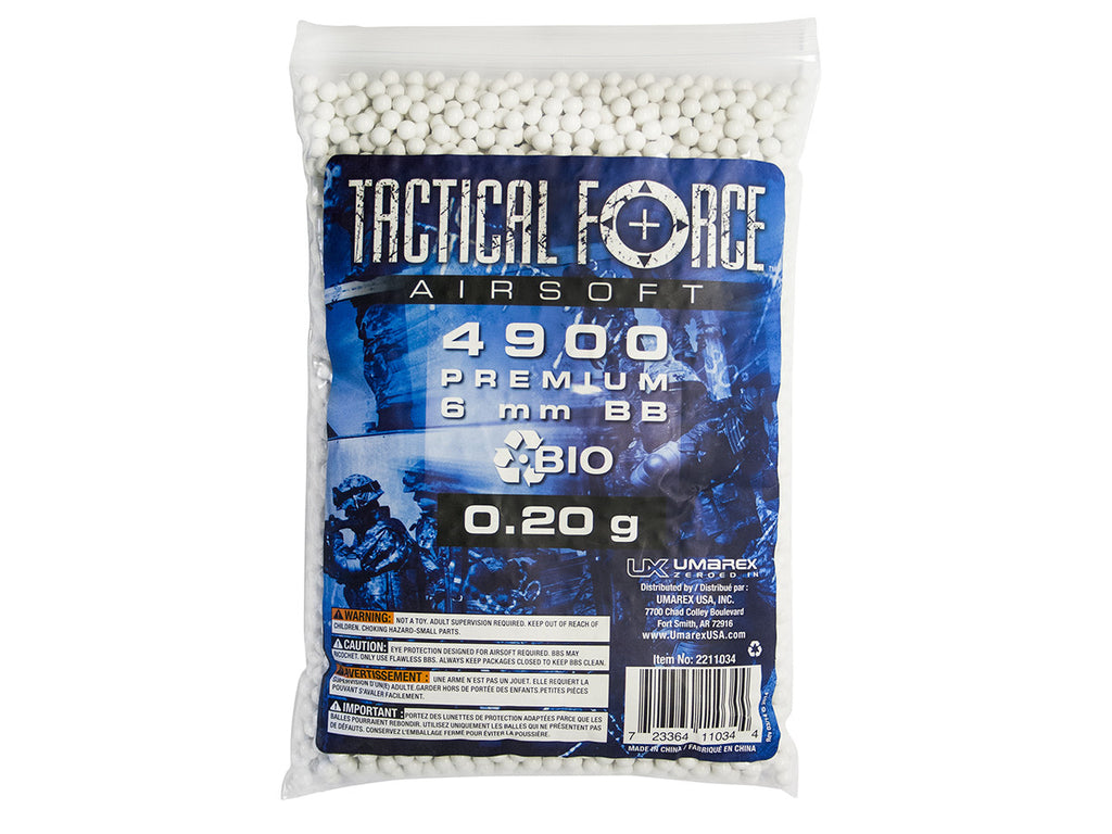 Tactical Force .20g BIO 4900ct BAG WHITE