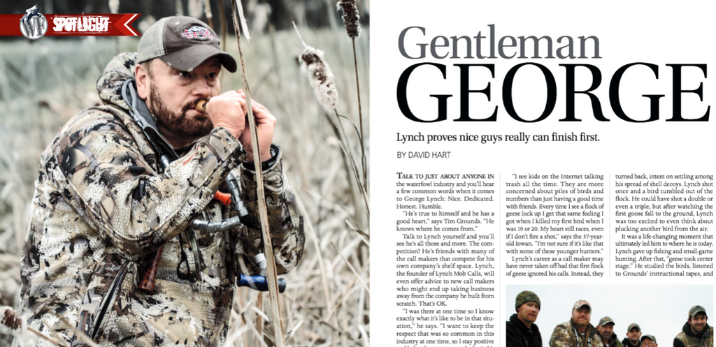 George Lynch Featured in Wildfowl Magazine