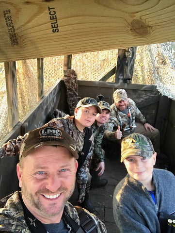 Jason guides youth waterfowl hunt