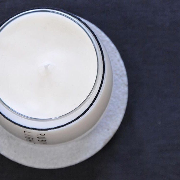 Elements Glass Concrete Candle Range