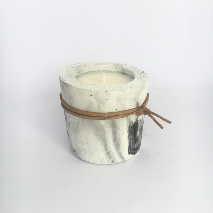 Suede Wrap Concrete Soy Candle