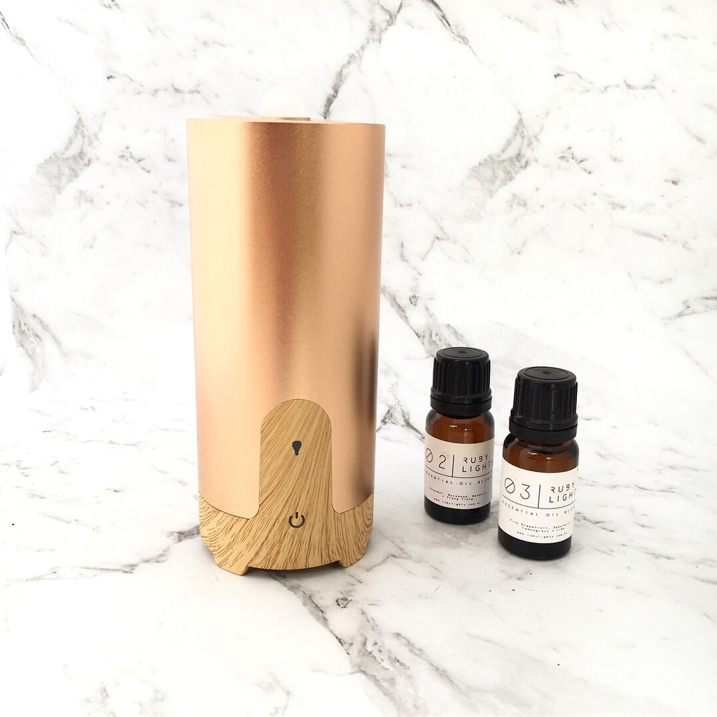 USB Tall Gold Aromatherapy Diffuser