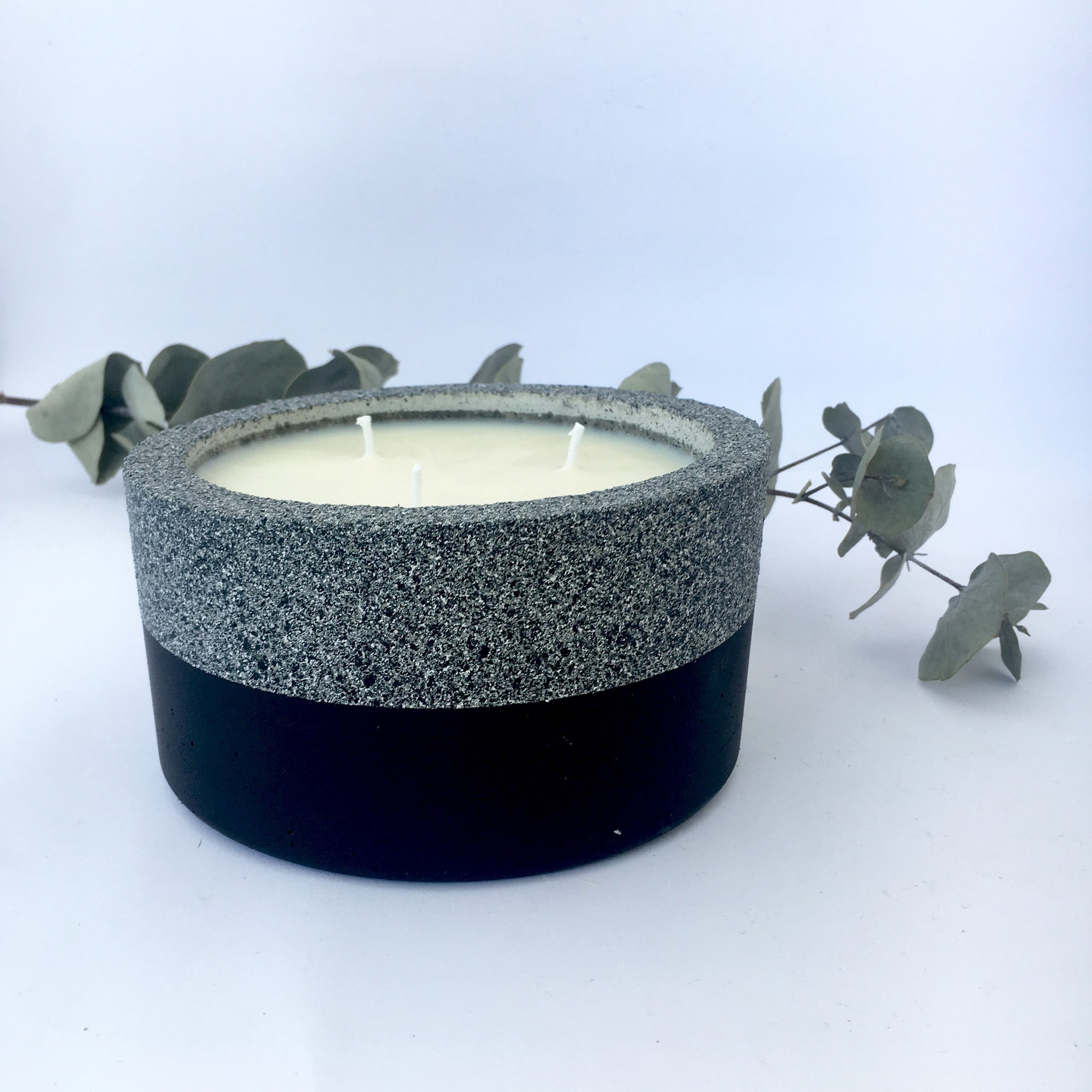 Trio Concrete Soy Candle