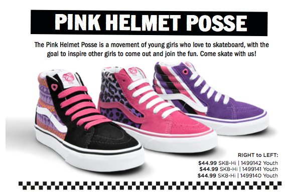 Pink Helmet Posse Girls Design Their Own Line Of Vans Shoes