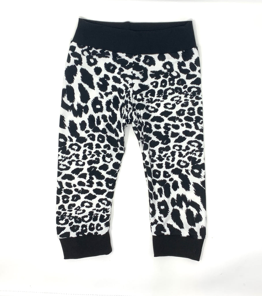 Black/White Cheetah Joggers