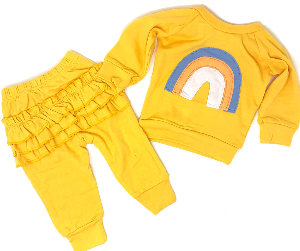Yellow Rainbow Jogger Set
