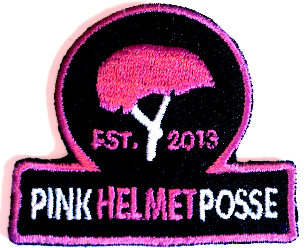 Pink Helmet Posse Patch BLACK