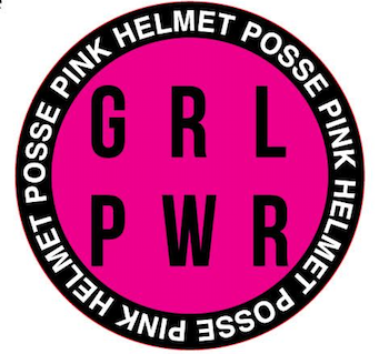 Girl Power Sticker Black/Pink