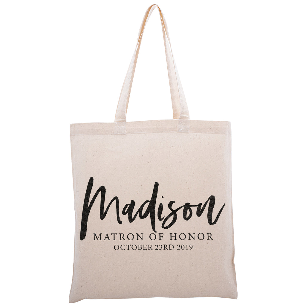 Personalized Tote Bag For Bridesmaids Wedding | Customized Bachelorette Party Bag | Baby Shower and Events Totes |Design #14