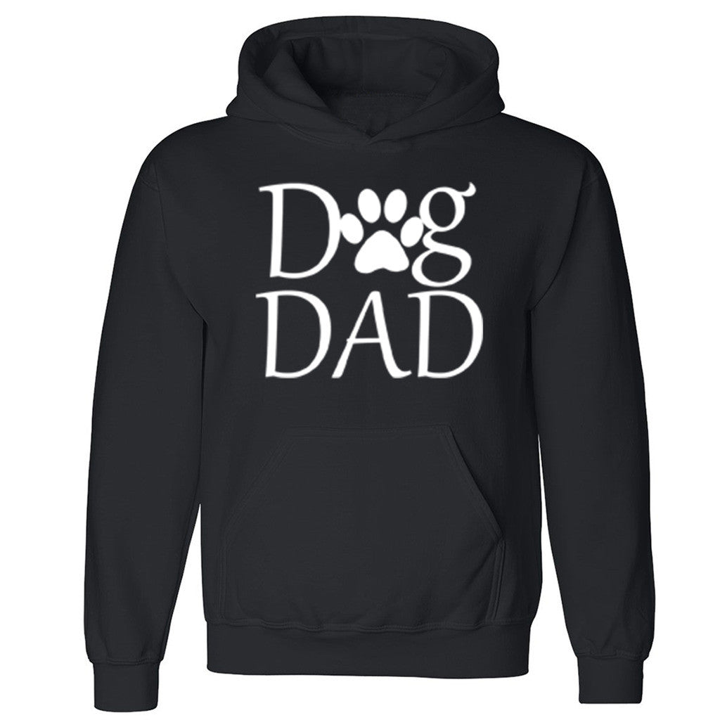 "Zexpa Apparelâ""¢ Dog Dad Paw Print Unisex Hoodie Dog Dad Dog Mom rescue dog Hooded Sweatshirt"