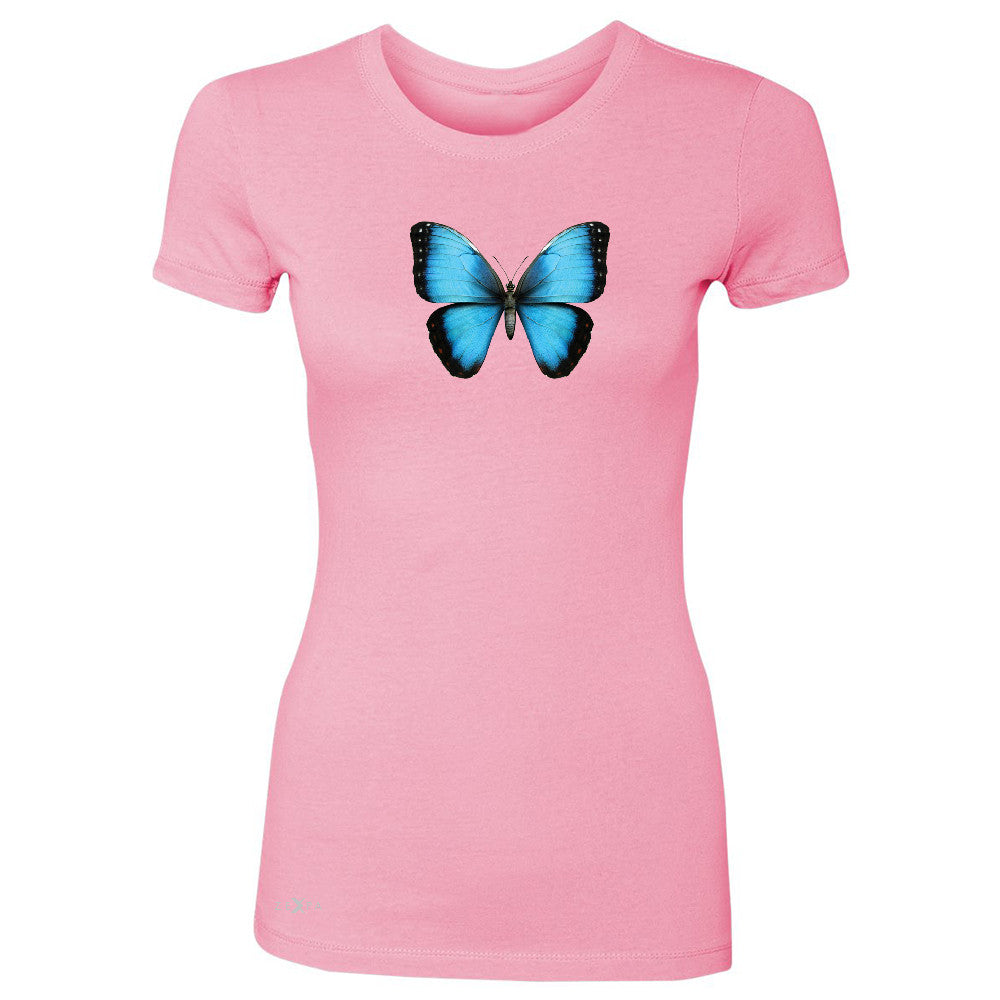 Real 3D Morpho Didius Butterfly Women's T-shirt Animal Cool Cute Tee - Zexpa Apparel - 3