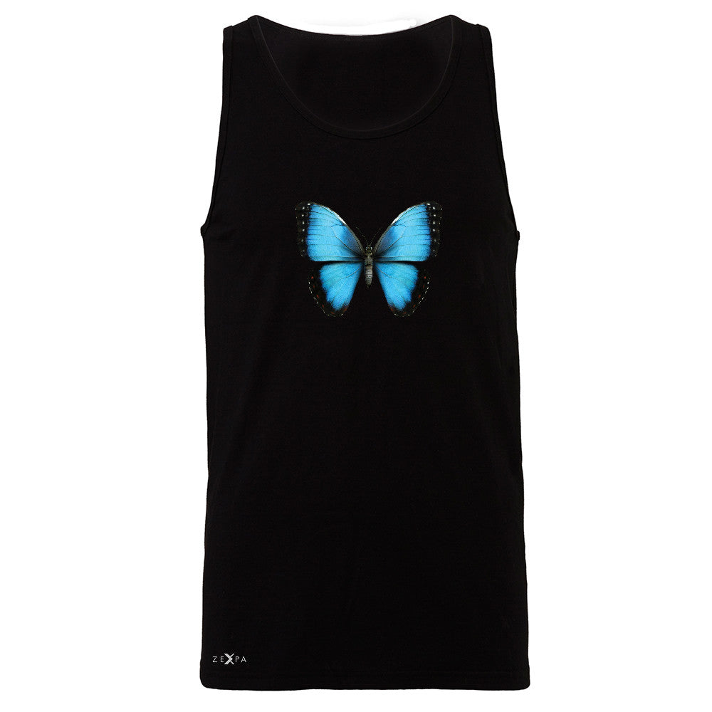 Real 3D Morpho Didius Butterfly Men's Jersey Tank Animal Cool Cute Sleeveless - Zexpa Apparel - 1