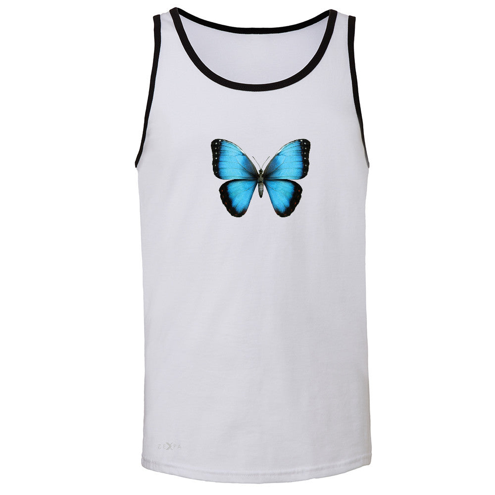 Real 3D Morpho Didius Butterfly Men's Jersey Tank Animal Cool Cute Sleeveless - Zexpa Apparel - 5