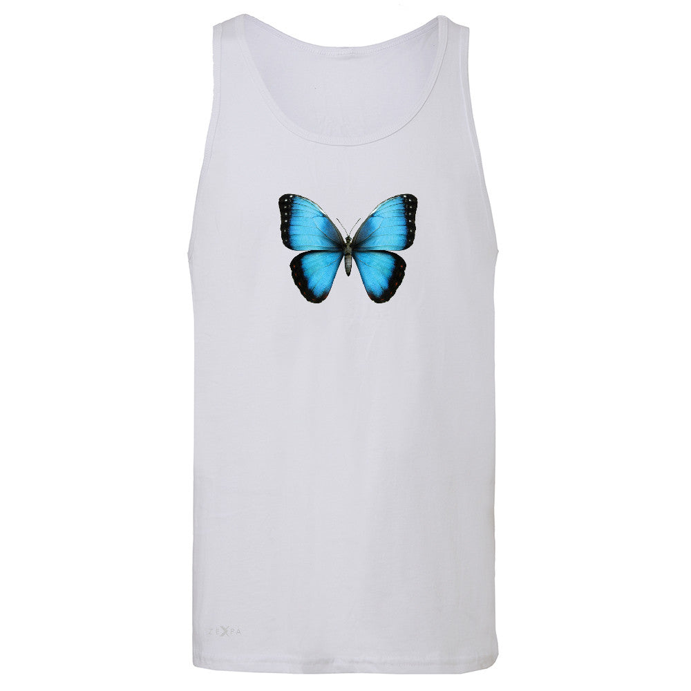 Real 3D Morpho Didius Butterfly Men's Jersey Tank Animal Cool Cute Sleeveless - Zexpa Apparel - 6