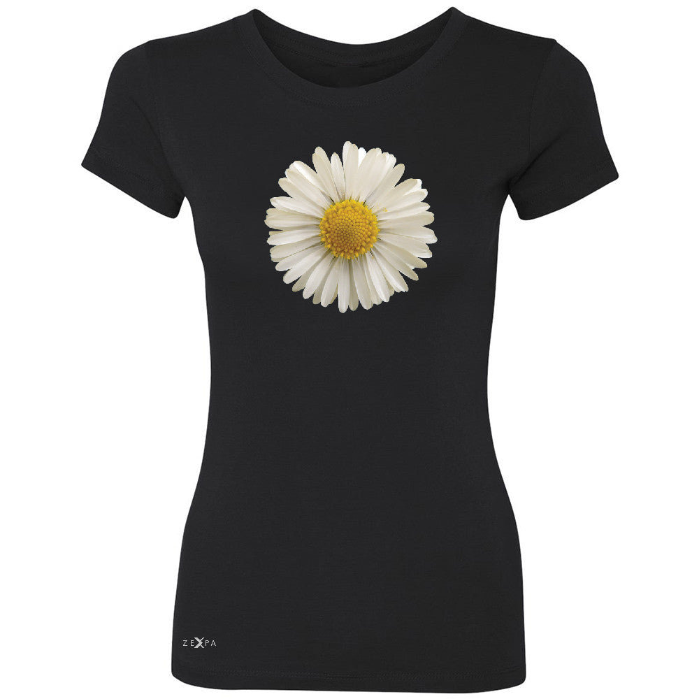 Real 3D Daisy Women's T-shirt Flower Cool Cute Embossed Tee - Zexpa Apparel - 1