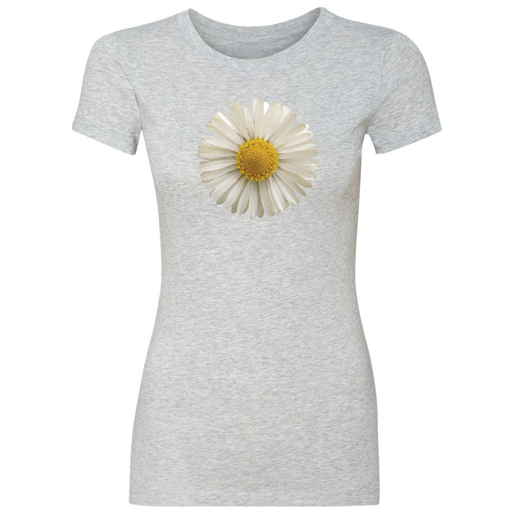 Real 3D Daisy Women's T-shirt Flower Cool Cute Embossed Tee - Zexpa Apparel - 2