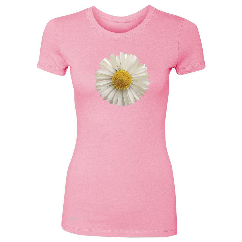 Real 3D Daisy Women's T-shirt Flower Cool Cute Embossed Tee - Zexpa Apparel - 3