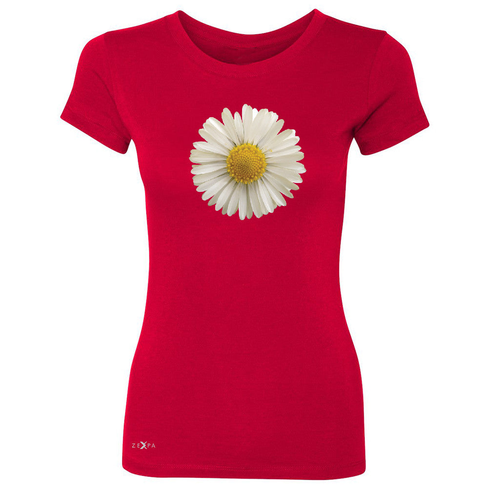 Real 3D Daisy Women's T-shirt Flower Cool Cute Embossed Tee - Zexpa Apparel - 4