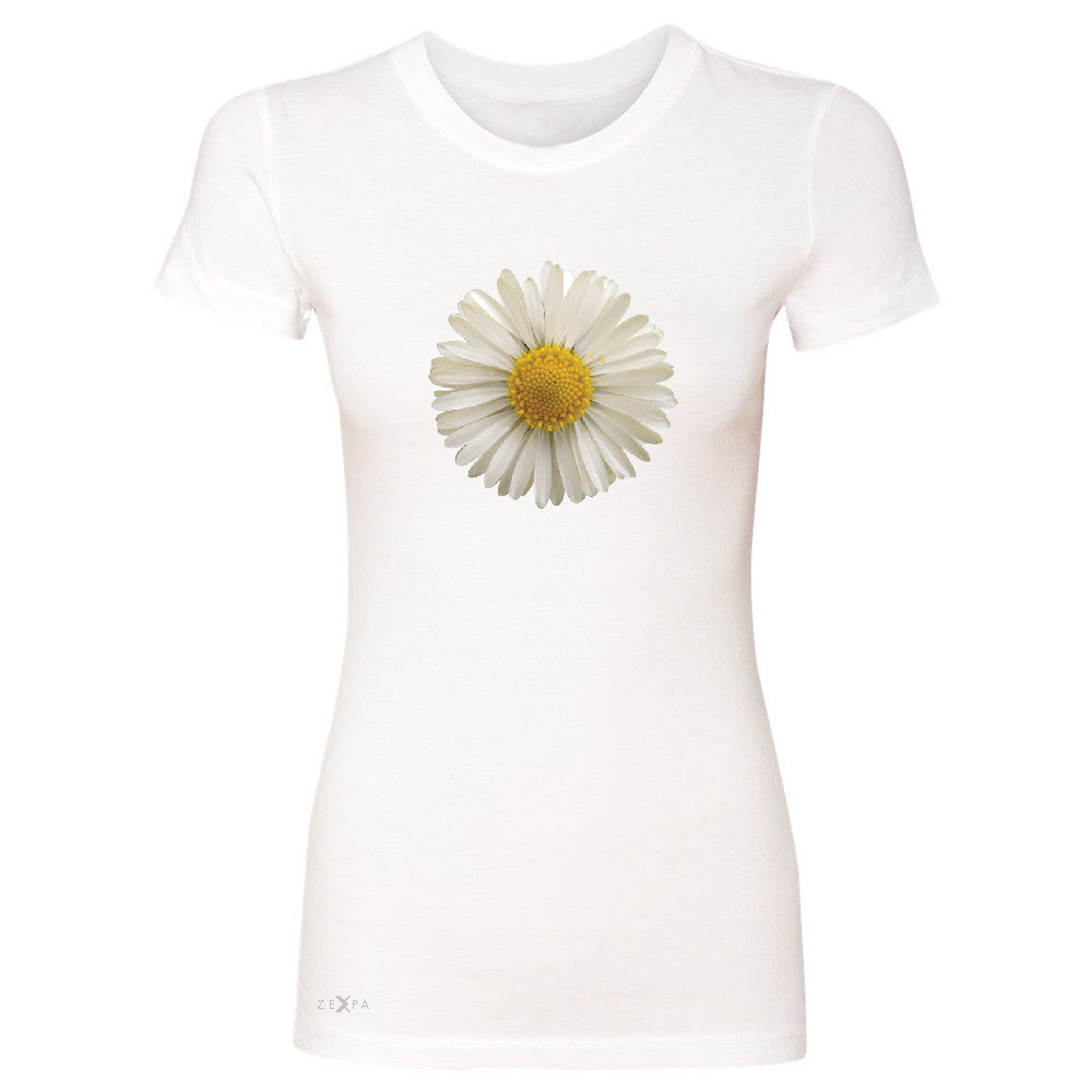 Real 3D Daisy Women's T-shirt Flower Cool Cute Embossed Tee - Zexpa Apparel - 5