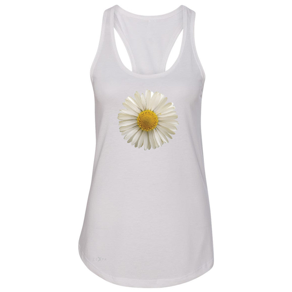 Real 3D Daisy Women's Racerback Flower Cool Cute Embossed Sleeveless - Zexpa Apparel - 4
