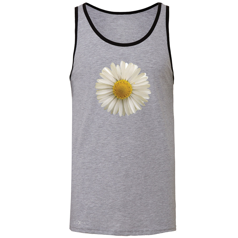 Real 3D Daisy Men's Jersey Tank Flower Cool Cute Embossed Sleeveless - Zexpa Apparel - 2