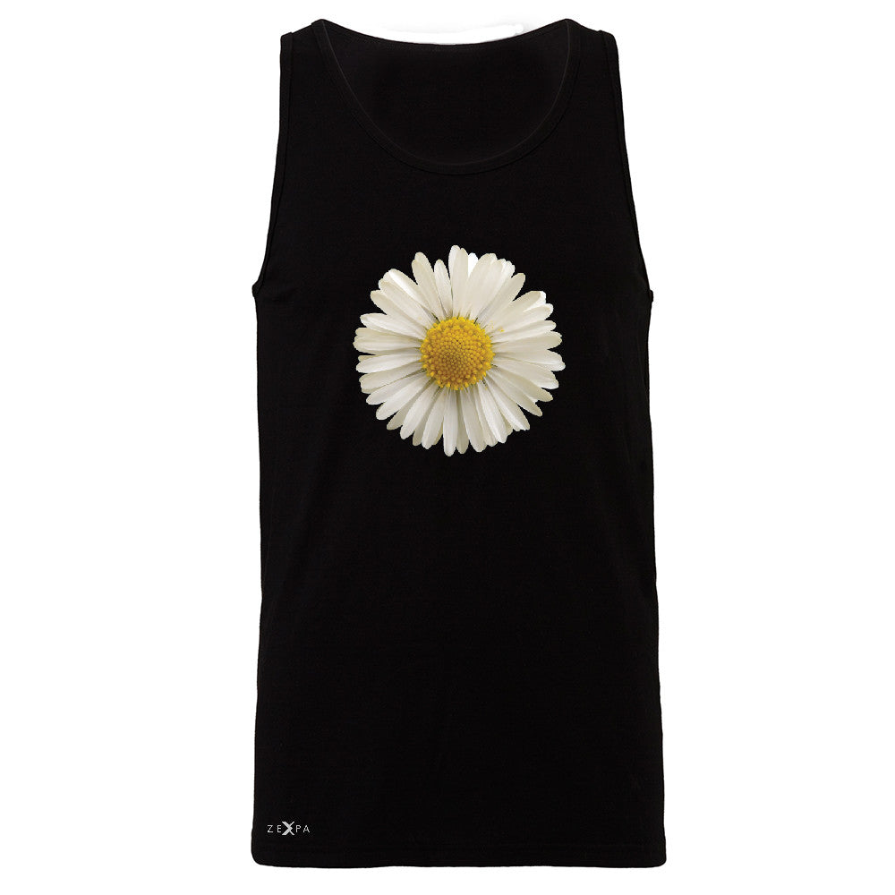 Real 3D Daisy Men's Jersey Tank Flower Cool Cute Embossed Sleeveless - Zexpa Apparel - 1