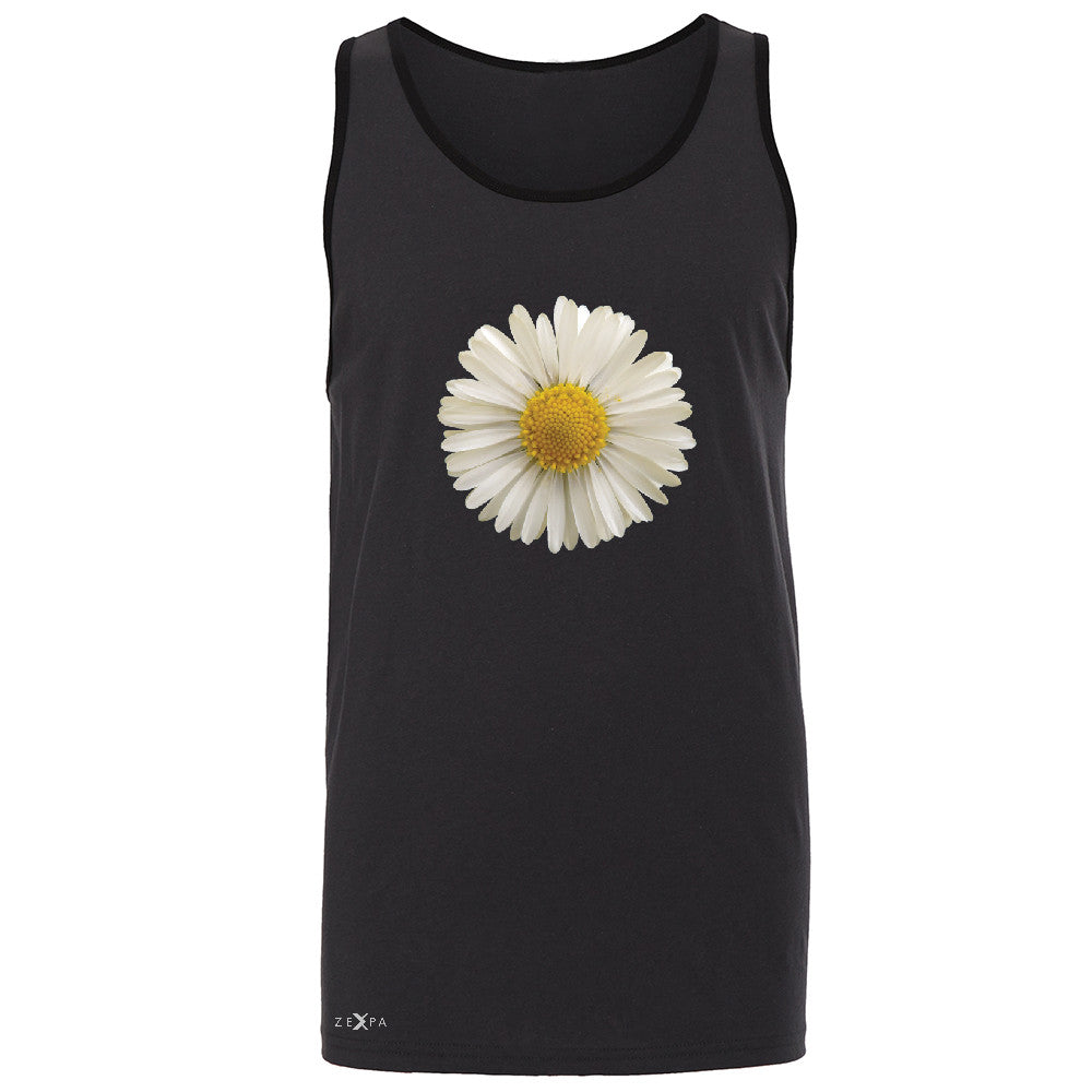 Real 3D Daisy Men's Jersey Tank Flower Cool Cute Embossed Sleeveless - Zexpa Apparel - 3