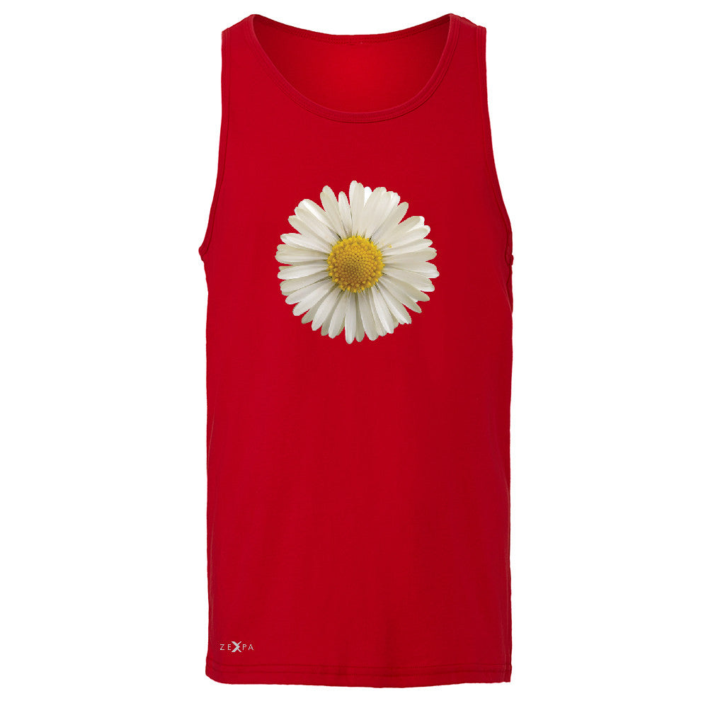 Real 3D Daisy Men's Jersey Tank Flower Cool Cute Embossed Sleeveless - Zexpa Apparel - 4