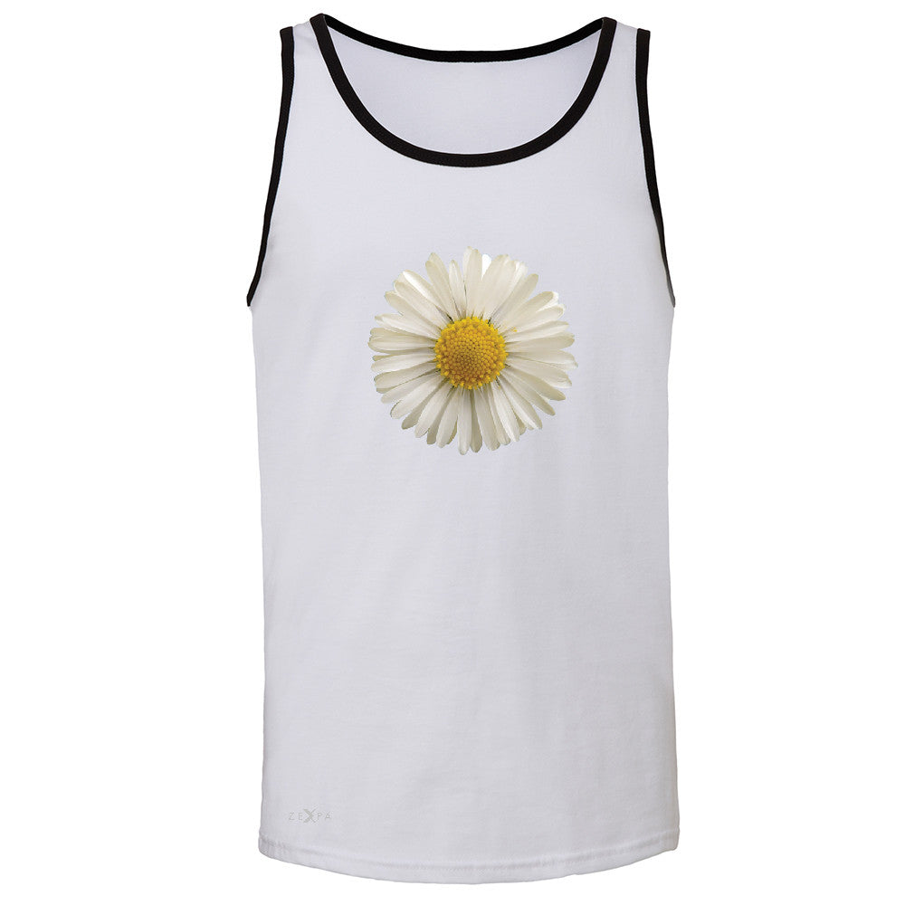 Real 3D Daisy Men's Jersey Tank Flower Cool Cute Embossed Sleeveless - Zexpa Apparel - 5